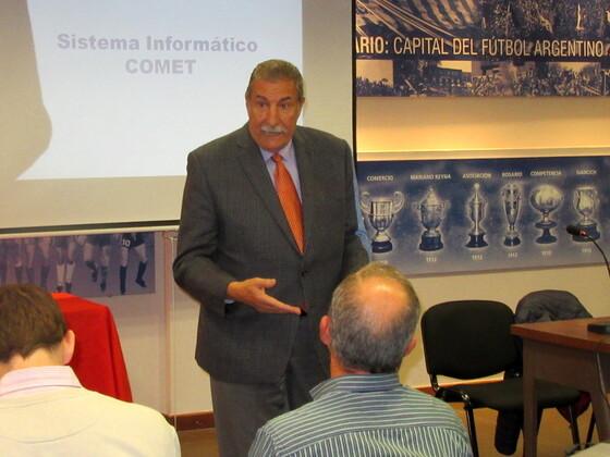 Mario Giammaria presentó la charla y se mostró orgulloso de ser el anfitrión de este evento.